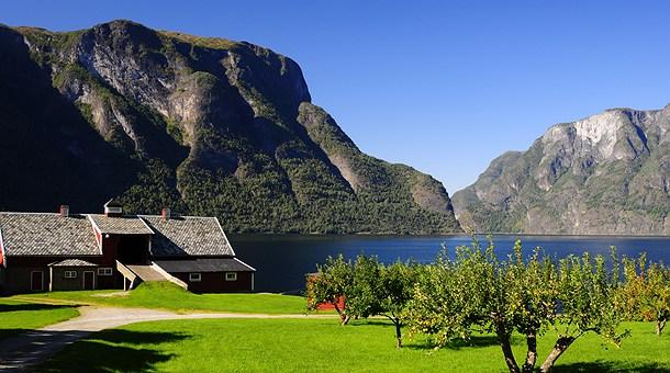 Aurland, Fiordos noruegos