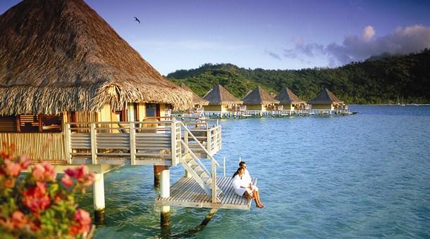Descansando en Tahiti