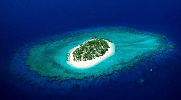 Isla coralina en Fiji
