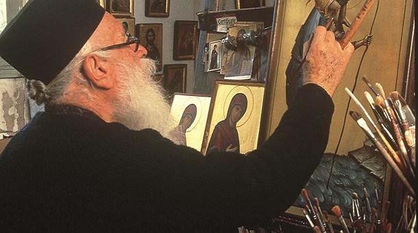 Pintando iconos bizantinos