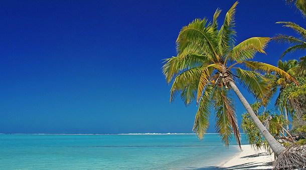 Playa de Maina Motu en la Laguna de Aitutaki