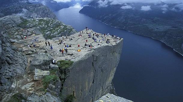 Roca del púlpito, Fiordos noruegos