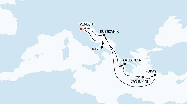Ruta, Crucero Panorámas del Mediterráneo