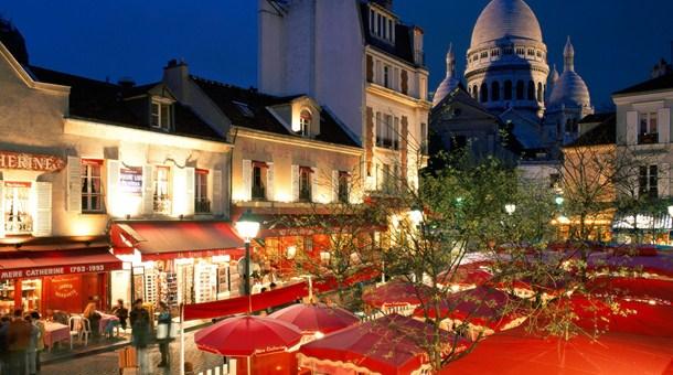 Terrazas junto al Sagrado Corazon, Paris