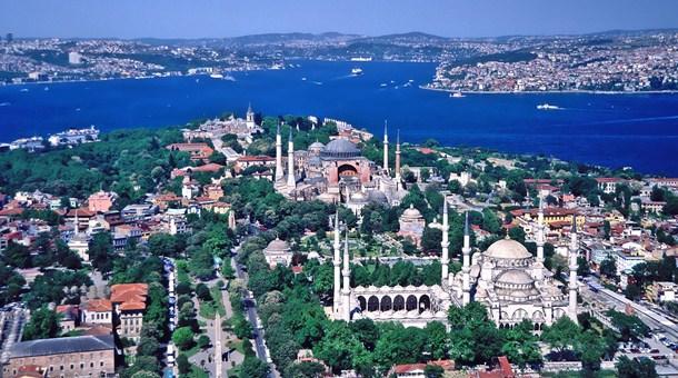 Vista aérea de Estambul