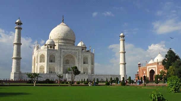 Vista del Taj Mahal, Agra