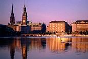 Anochecer en Hamburgo
