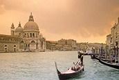 Atardecer en el gran canal, venecia