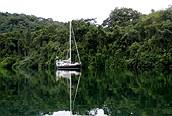 Barco en Puerto Viejo