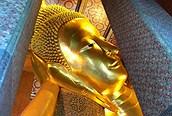 Buda Reclinado de cerca, Bangkok