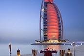 Burj Arab iluminado, Dubai