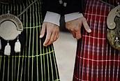 Detalle de las faldas escocesas
