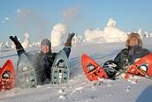 Disfrutando de la nieve, Laponia