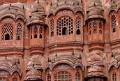 Fachada del Palacio de los Vientos, Jaipur
