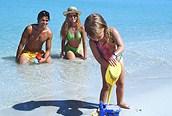 Familia en las playas de Varadero