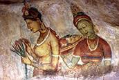 Frescos en la roca de Sigiriya