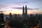 Kuala Lumpur al atardecer