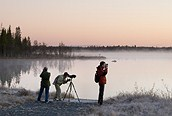 Lago en Kuusamo, Laponia