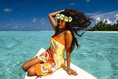 Mujer de Tahiti