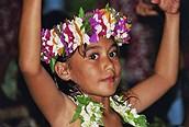 Niña en Aitutaki
