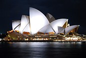 Opera House de noche, Sidney