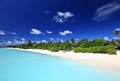 Paradisiaca playa de Maldivas