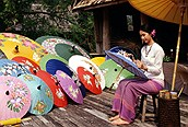 Painting parasols, Chiang Mai
