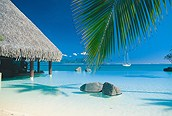 Piscina al lado del mar, Tahiti
