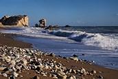 Playa donde nació Afrodita cerca de Limmasol