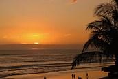 Playa de Kuta al atardecer, Bali