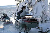 Safari en Motos de nieve, Laponia