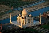 Taj Mahal desde el aire, Agra