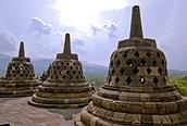 Templo Borobudur de cerca, Java