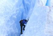 Trekking en un glaciar