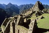 Vista lateral del Machu Pichu