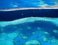 Aguas turquesas en la Gran Barrera de Coral