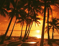 Atardecer en las Islas Fiji