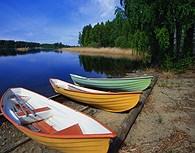 Barcas en los lagos