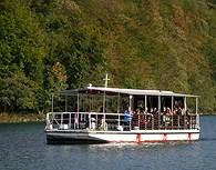 En barco por el lago, Plitvice