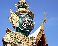 Estatua gigante, Wat Phra Kaeo, Bangkok