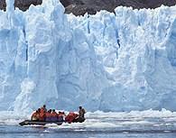Nos acercamos al hielo en zodiac