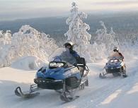 Paseo en motos de nieve, Laponia