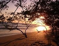 Playa Tamarindo al amanecer