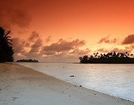 Puesta de sol en Rarotonga