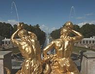 Vista desde la fuente Peterhof